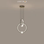 Подвесной светильник Luana 2 кольца цвет черный свет теплый