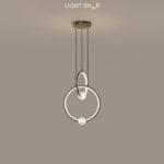 Подвесной светильник Luana 2 кольца цвет черный свет белый