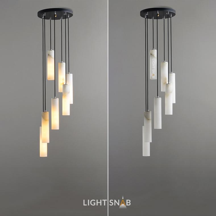 Дизайнерский подвесной светильник Marble Elit 7 ламп