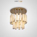 Дизайнерский светодиодный светильник Marble Gold в виде комбинации 24 ламп с цилиндрическими плафонами из мрамора