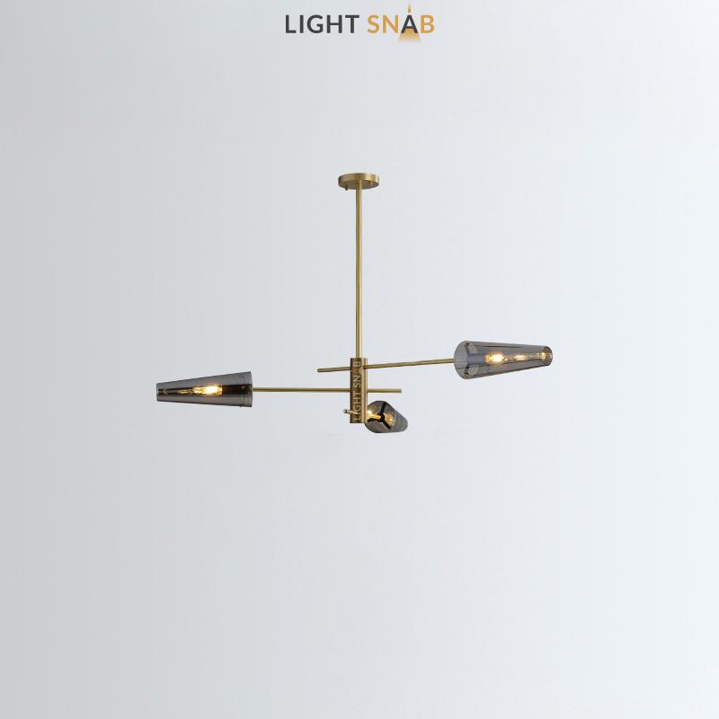 Люстра Maxima 3 лампы. Цвет латунь