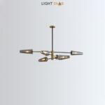 Люстра Maxima 6 ламп. Цвет латунь + черный