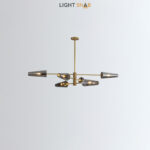 Люстра Maxima 6 ламп. Цвет латунь