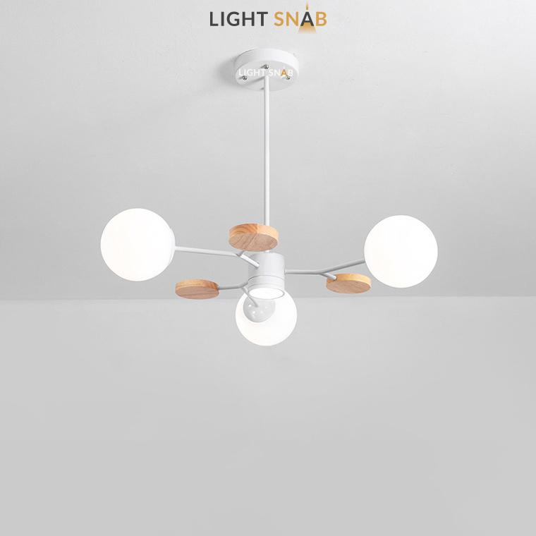 Люстра Meade Orb 4 лампы. Цвет белый