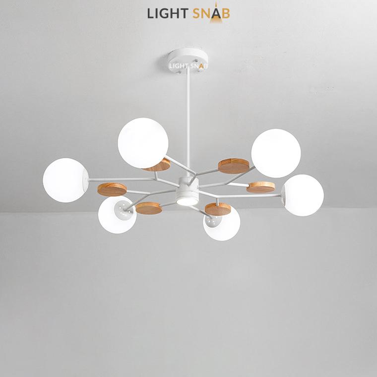 Люстра Meade Orb 7 ламп. Цвет белый