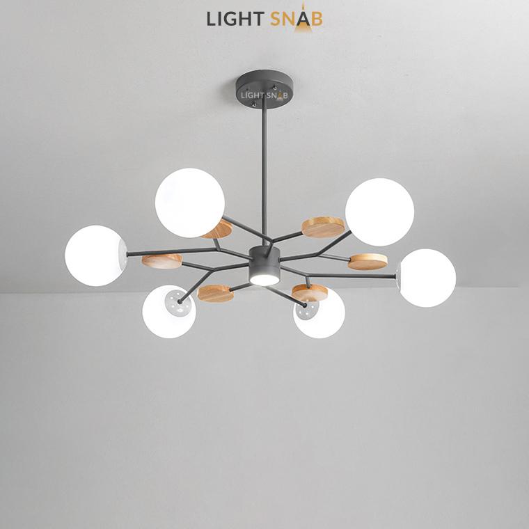 Люстра Meade Orb 7 ламп. Цвет черный
