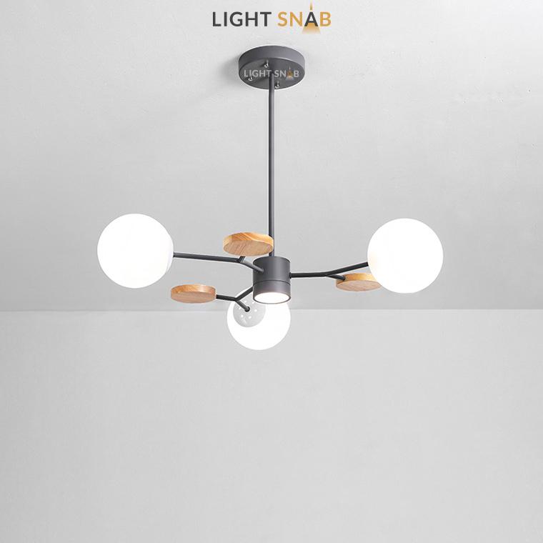 Люстра Meade Orb 4 лампы. Цвет черный