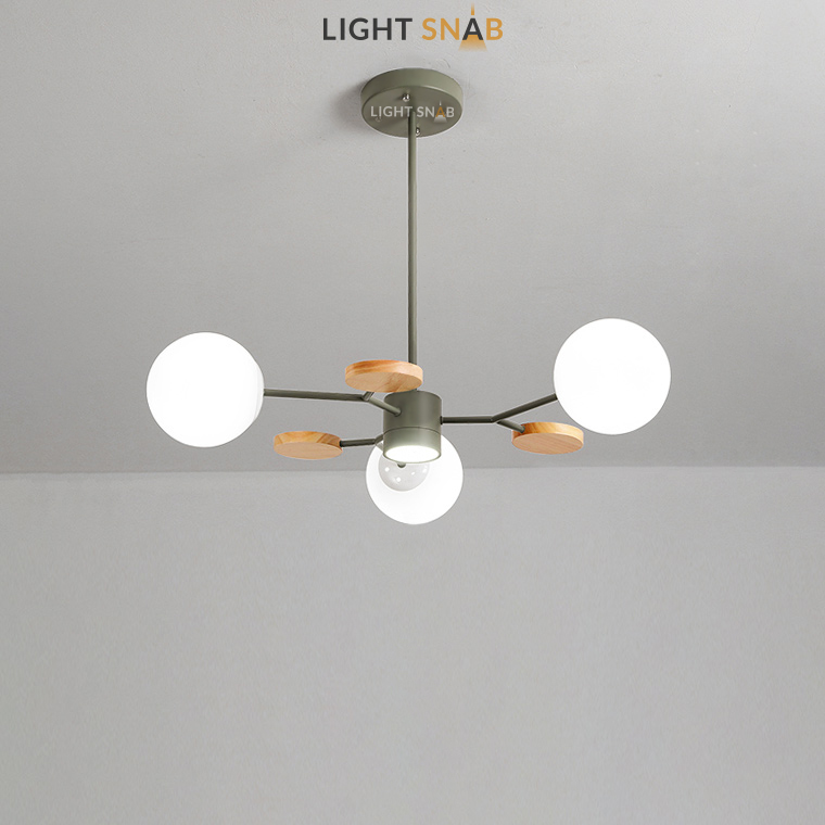 Люстра Meade Orb 4 лампы. Цвет зеленый