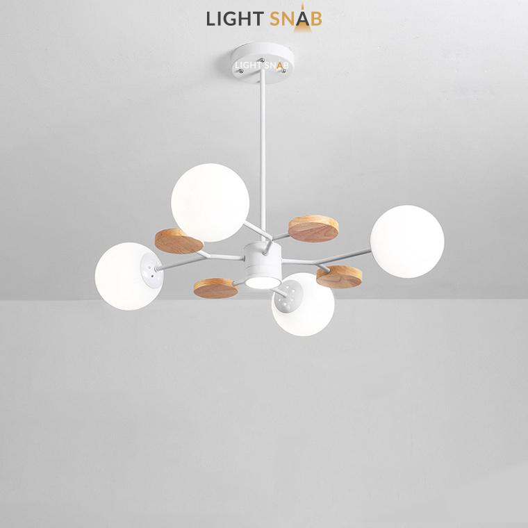 Люстра Meade Orb 5 ламп. Цвет белый