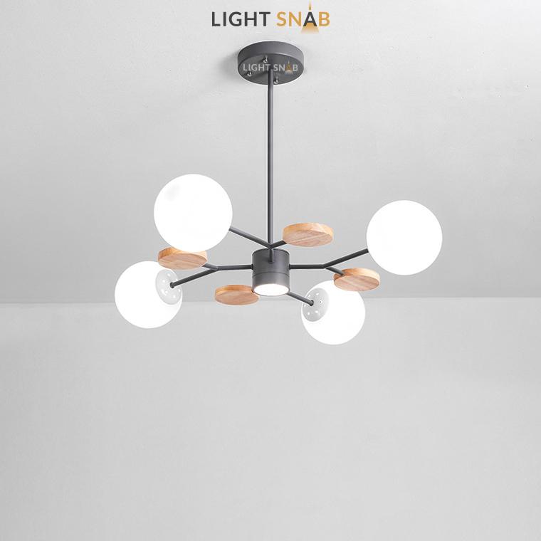 Люстра Meade Orb 5 ламп. Цвет черный