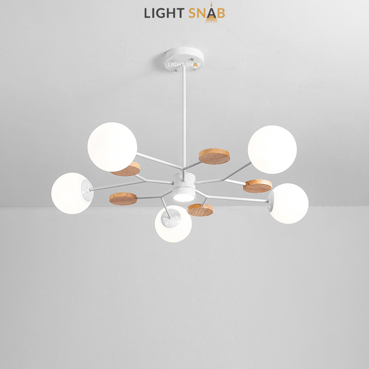 Люстра Meade Orb 6 ламп. Цвет белый
