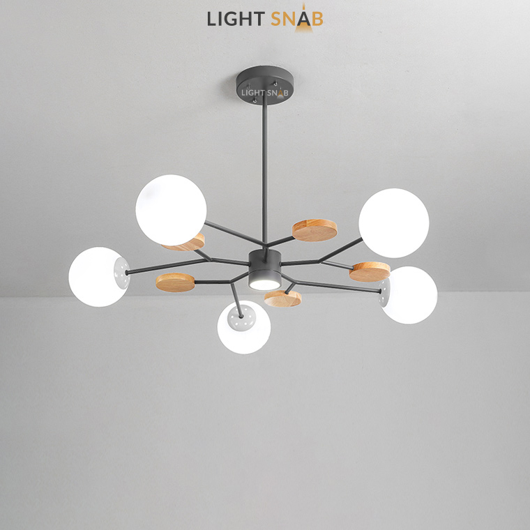 Люстра Meade Orb 6 ламп. Цвет черный