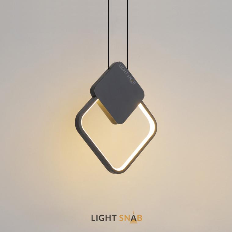 Светодиодный подвесной светильник Mitch BW модель A цвет черный