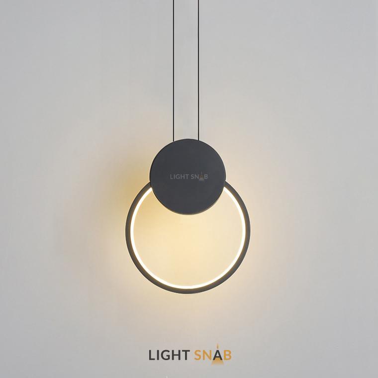 Светодиодный подвесной светильник Mitch BW модель B цвет черный