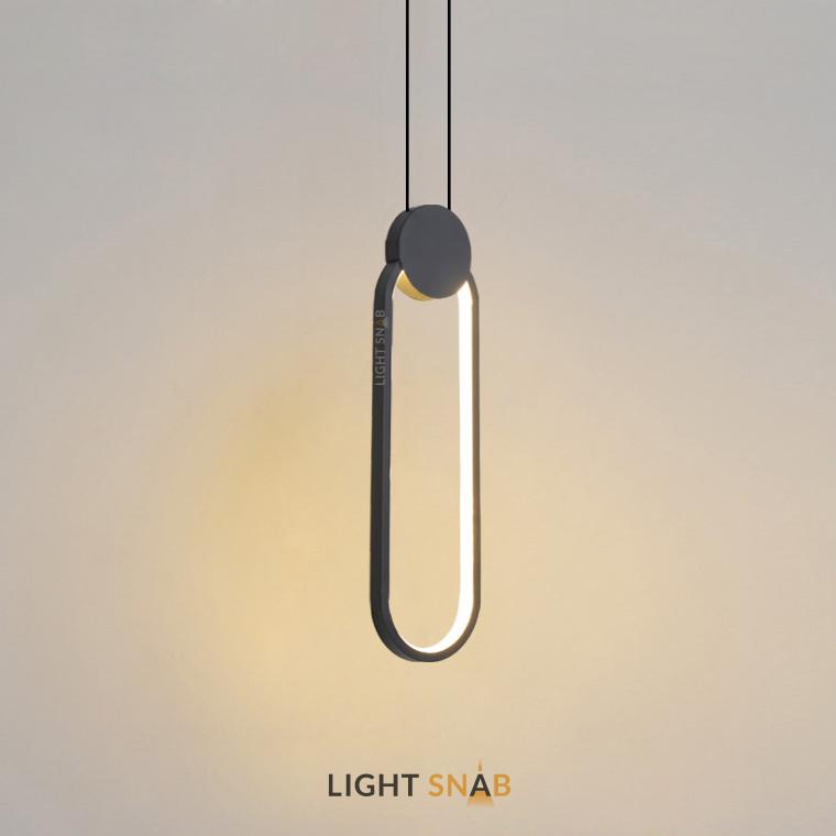 Светодиодный подвесной светильник Mitch BW модель C цвет черный