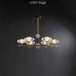 Светодиодная люстра Nicol 6 ламп. Цвет бронза + синий