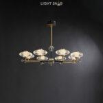 Светодиодная люстра Nicol 8 ламп. Цвет бронза + синий