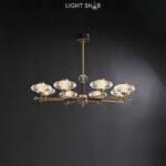 Светодиодная люстра Nicol 8 ламп. Цвет бронза + красный