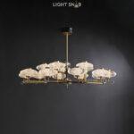 Светодиодная люстра Nicol 15 ламп. Цвет бронза + красный