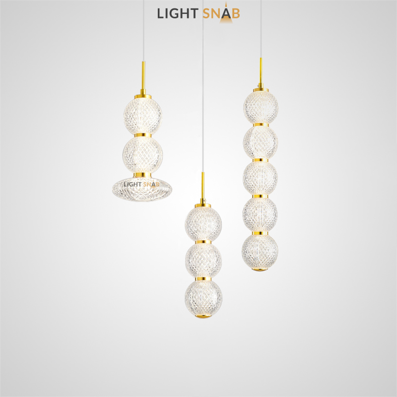 Подвесной светодиодный светильник Norill в виде композиции из рельефных шаров