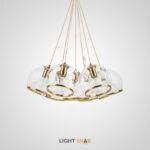 Подвесной светильник Nuazen с комбинацией плафонов шарообразной формы