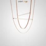 Дизайнерский подвесной светильник Nutta в виде светодиодной рейки на кожаном ремне