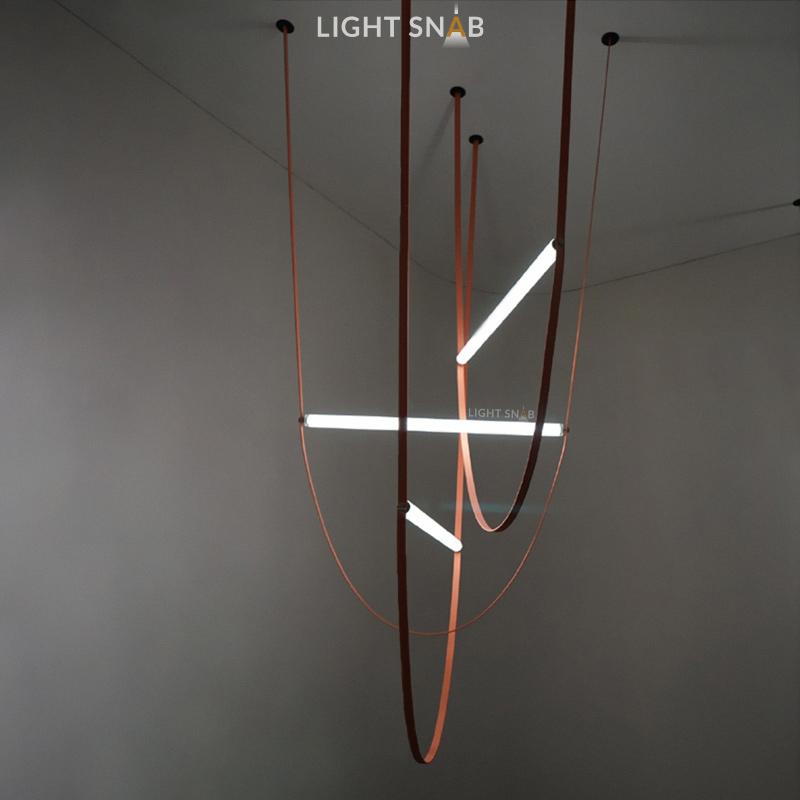 Дизайнерский подвесной светильник Nutta размер M белый свет