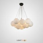 Дизайнерская люстра Ogden с декоративными шарами из матового стекла