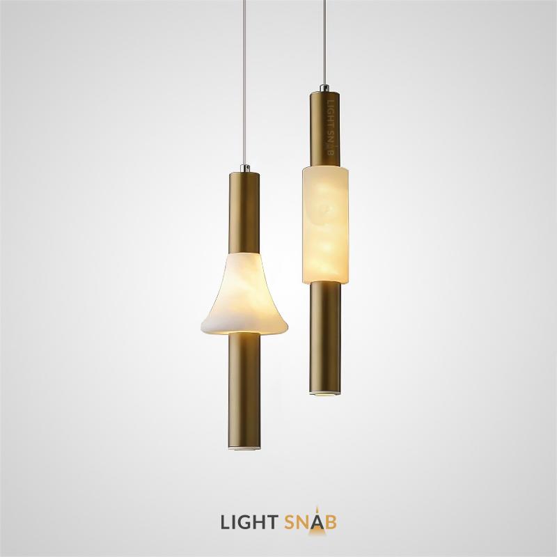 Подвесной светильник Olavia с цилиндрическим или конусообразным плафоном из натурального мрамора
