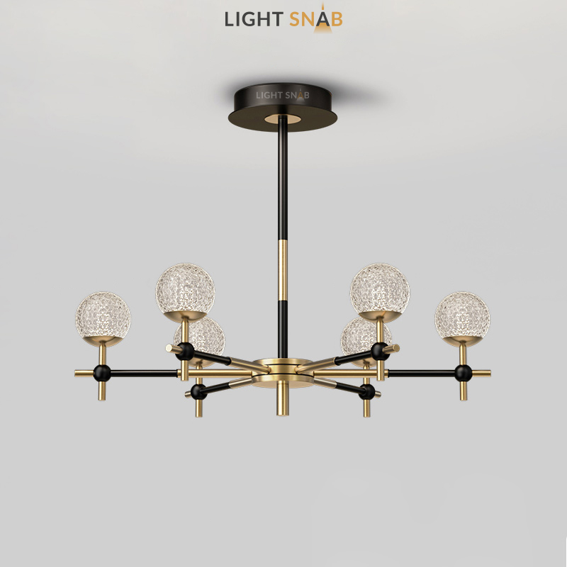 Светодиодная люстра Olympus 6 ламп трехцветный свет
