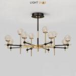 Светодиодная люстра Olympus 12 ламп трехцветный свет
