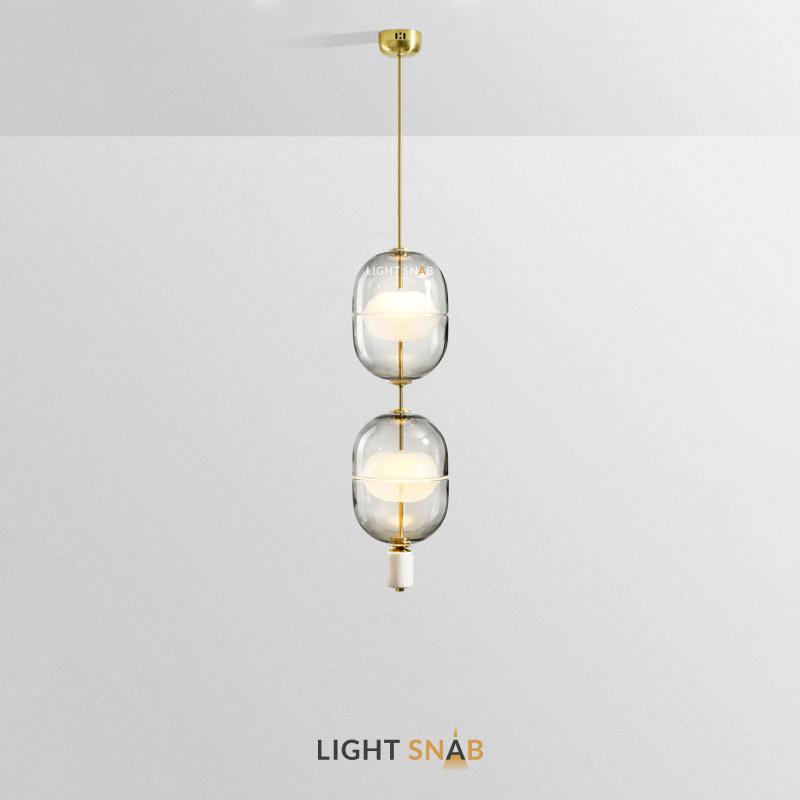Дизайнерский подвесной светильник Platte 2 лампы