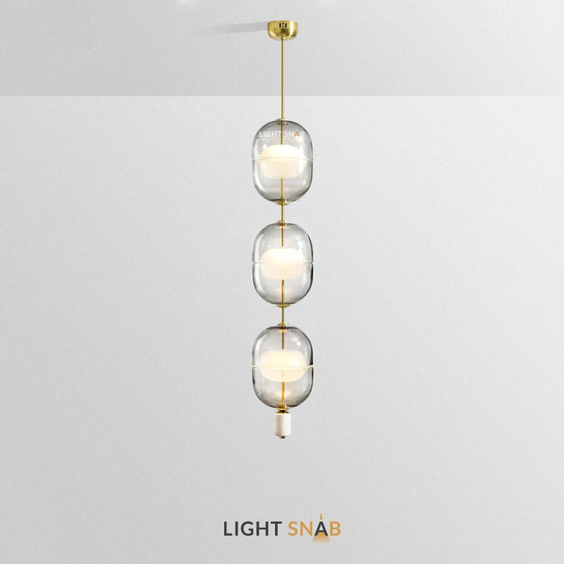 Дизайнерский подвесной светильник Platte 3 лампы