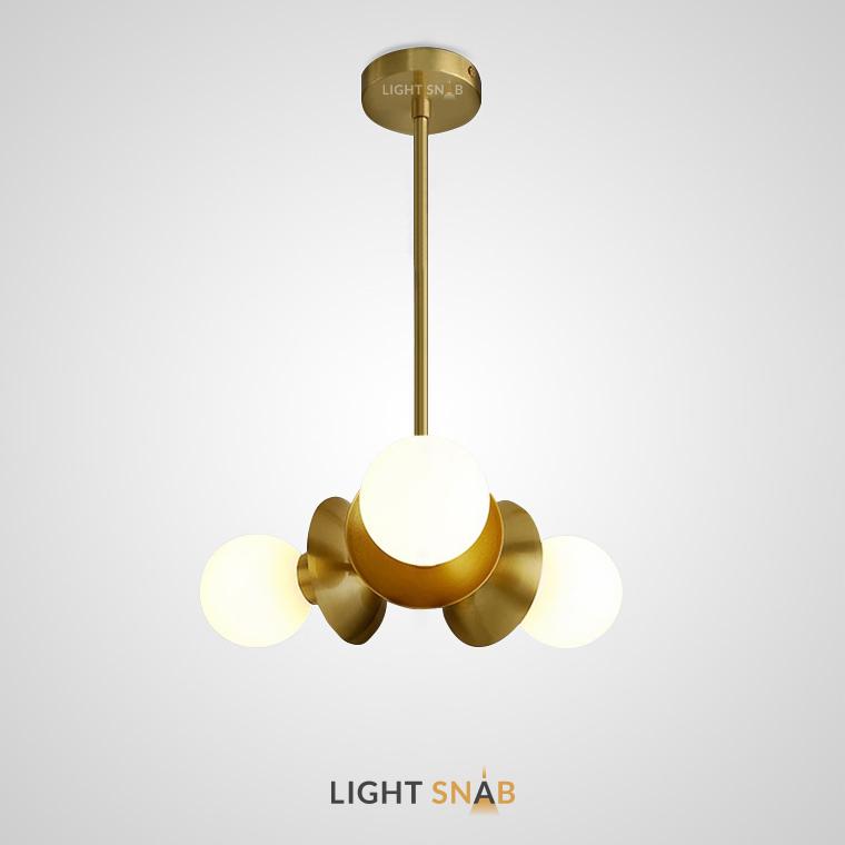 Люстра Plently маленького размера с тремя лампами на потолочной стойке