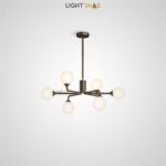 Дизайнерская люстра Proton 6 ламп. Цвет черный