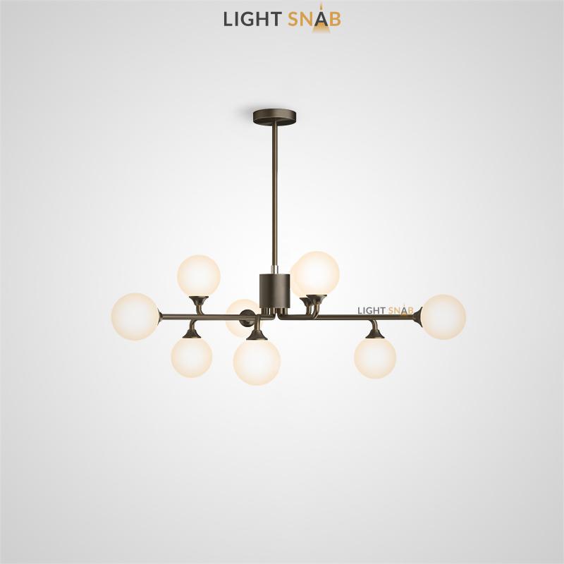 Дизайнерская люстра Proton 9 ламп. Цвет черный