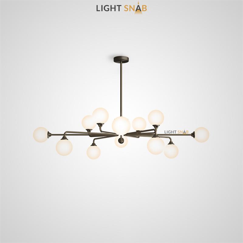 Дизайнерская люстра Proton 12 ламп. Цвет черный