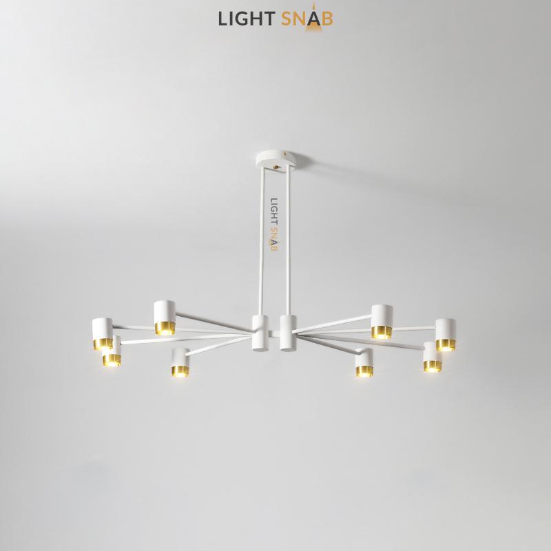 Люстра Ragna 8 ламп. Цвет белый + золото