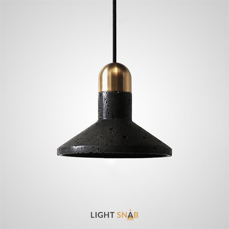 Подвесной светильник Rarity камень цвет черный + латунь