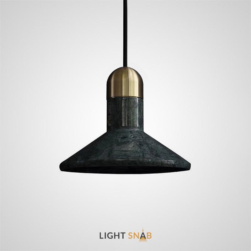 Подвесной светильник Rarity мрамор цвет зеленый + латунь