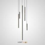 Подвесной светильник Reet с цилиндрическим плафоном из цемента различной высоты