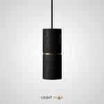 Подвесной светильник Rogerd камень цвет черный + латунь