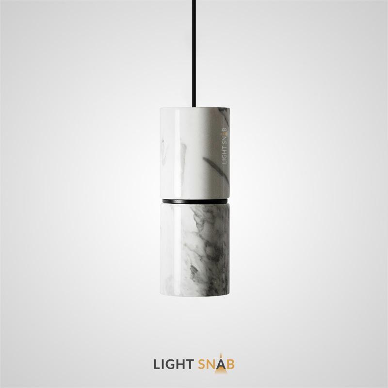 Подвесной светильник Rogerd мрамор цвет белый + черный