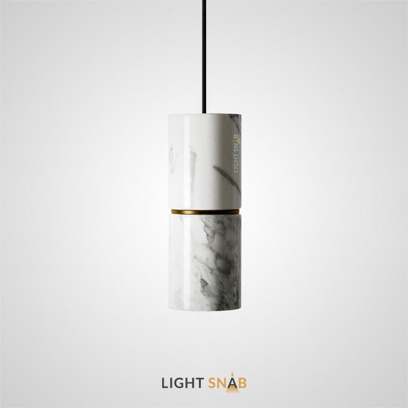 Подвесной светильник Rogerd мрамор цвет белый + латунь