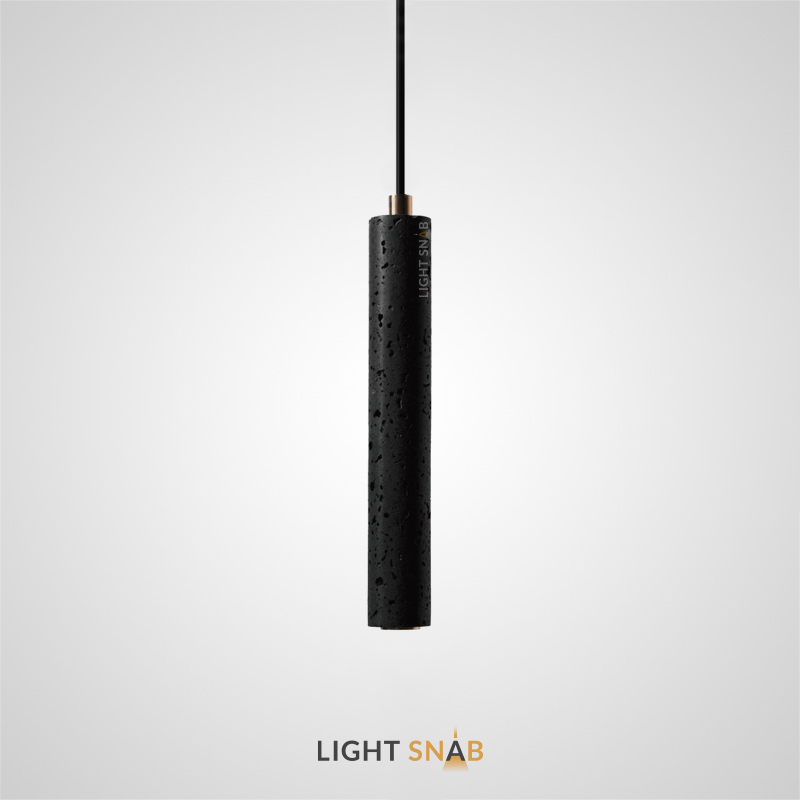 Подвесной светильник Rogerd Leng камень цвет черный + латунь