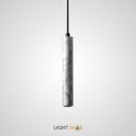 Подвесной светильник Rogerd Leng мрамор цвет белый + черный
