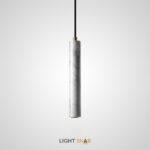 Подвесной светильник Rogerd Leng мрамор цвет белый + латунь