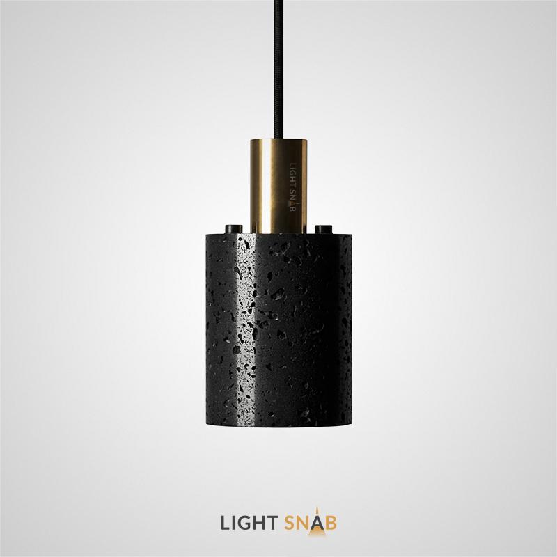 Подвесной светильник Rogerd Small камень цвет черный + латунь