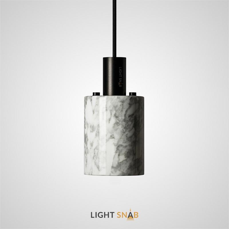Подвесной светильник Rogerd Small мрамор цвет белый + черный