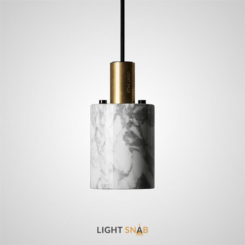 Подвесной светильник Rogerd Small мрамор цвет белый + латунь
